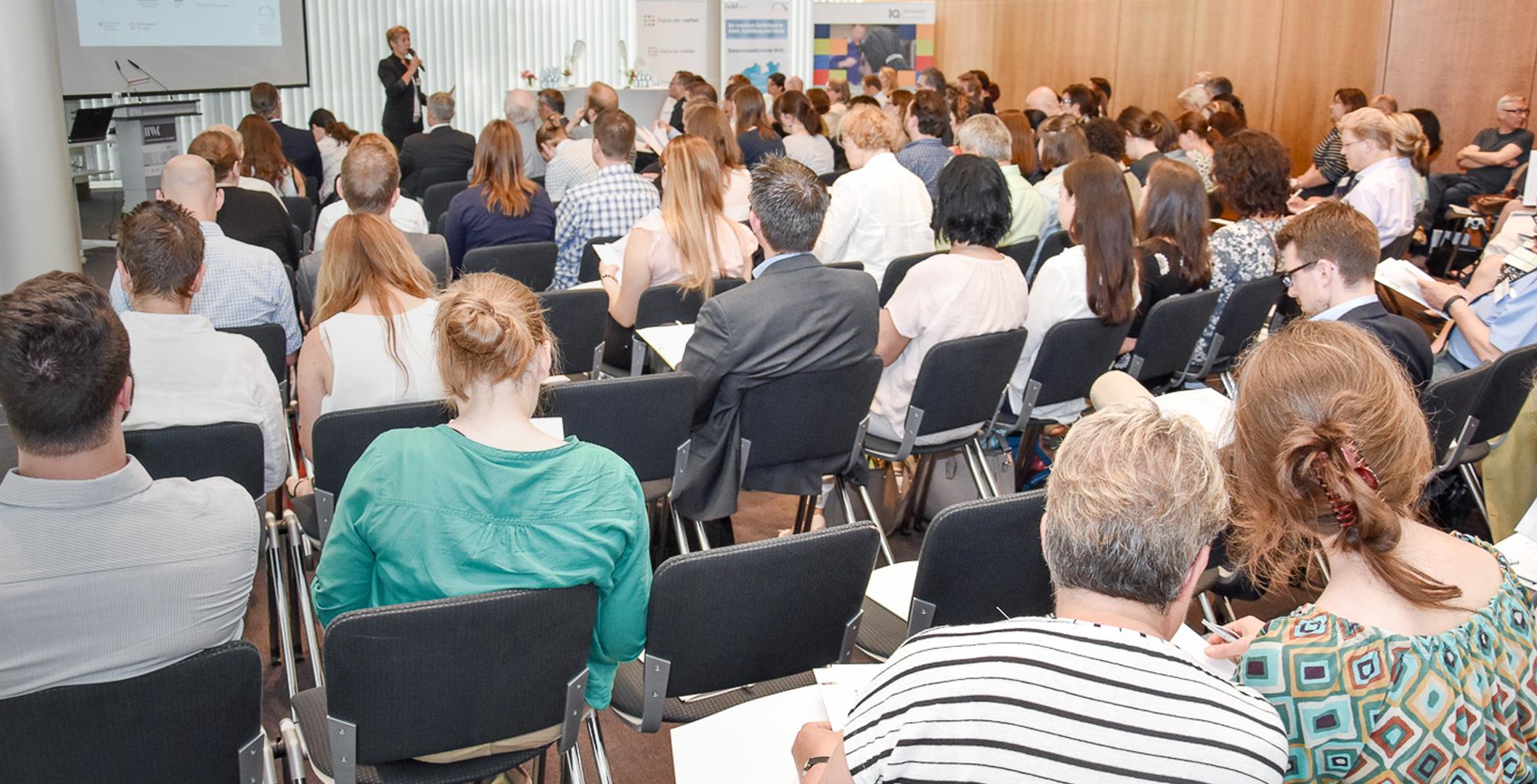 Das Bild zeigt das 3. Partnerforum NRW am 30.05.6017 anlässlich des Diversity-Tages 2017