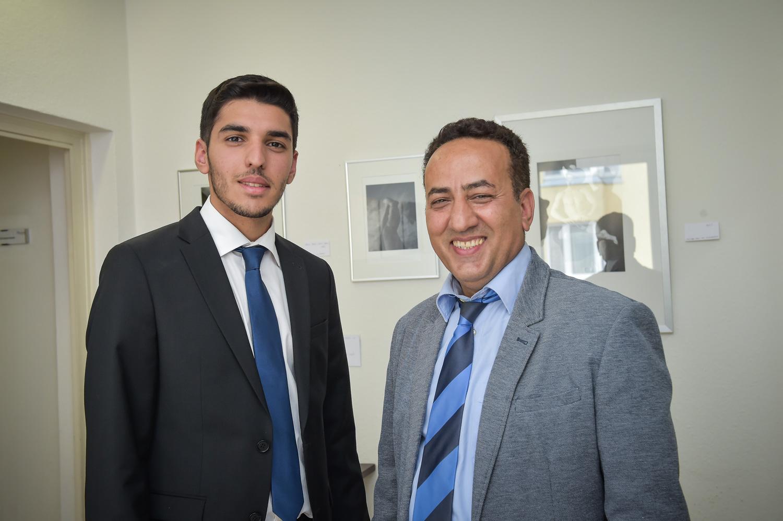 Foto: Mohmmadreza Y. mit Sohn (l.)